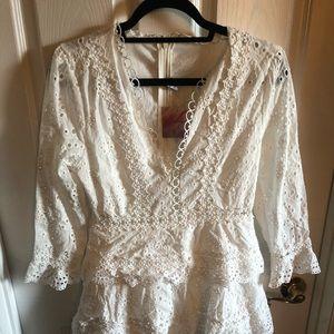 Eyelet white dress.